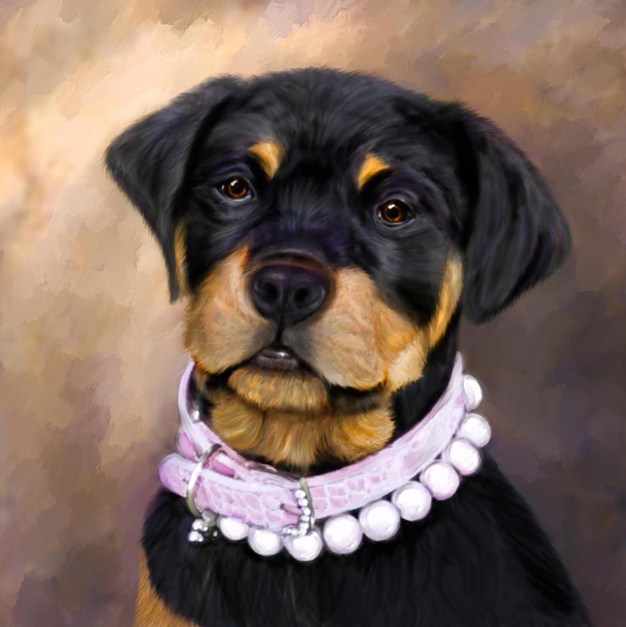 Dog Painting - Pearlie Girlie by Elizabeth Murphy