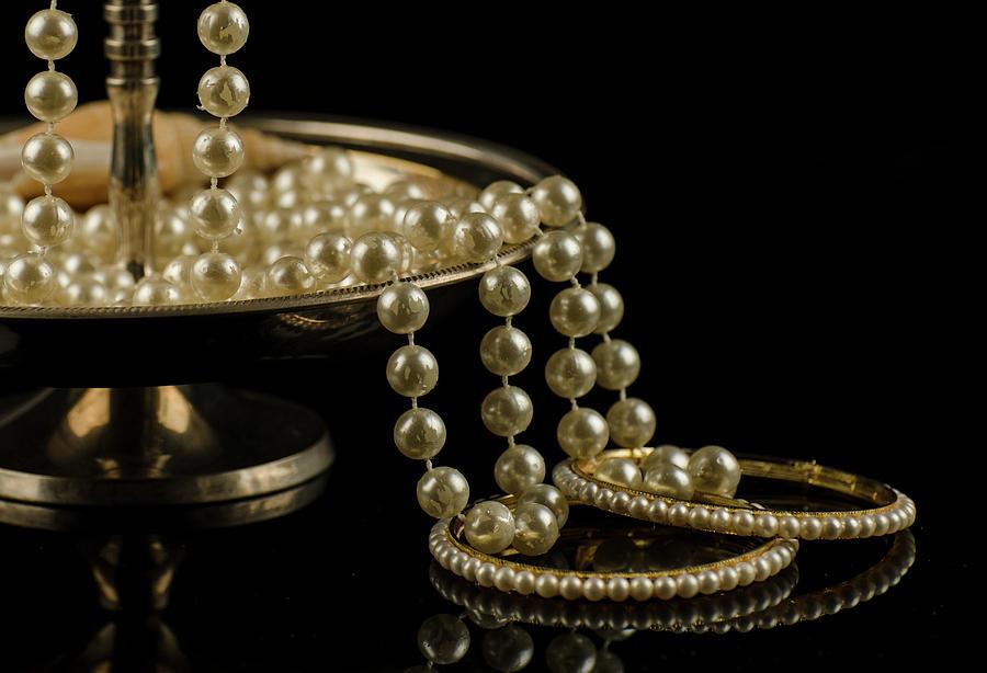 Pearls Photograph - Pearls Of Joy by Manjot Singh Sachdeva