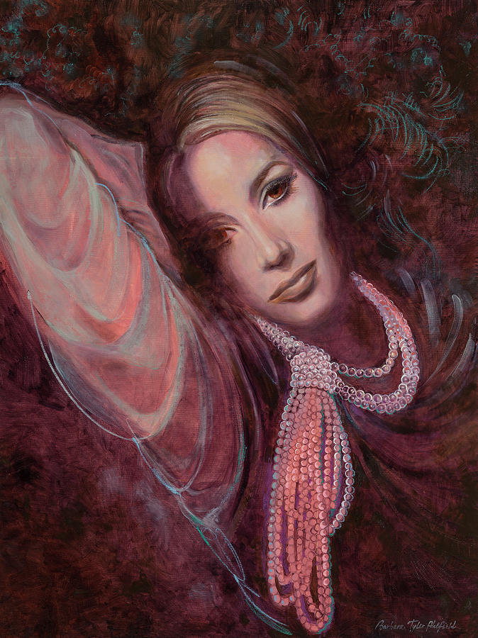 Fashion Illustration Painting - Pearls on Rorie by Barbara Tyler Ahlfield