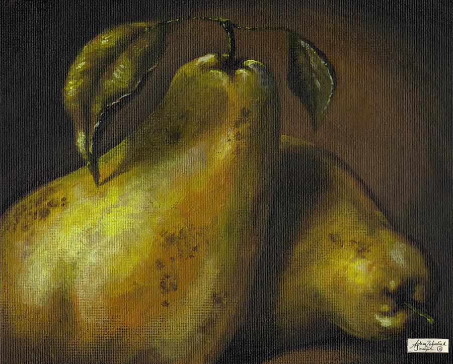 Still Life Painting - Pears by Adam Zebediah Joseph