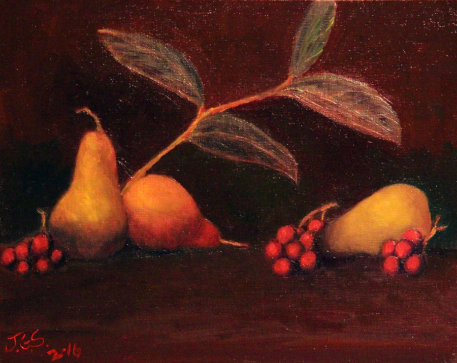 Pears and Grapes by Janet Greer Sammons