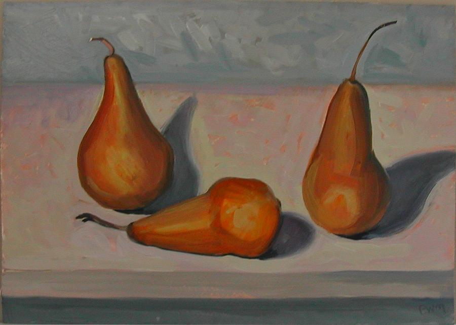 Pears Painting by Eva Wittlinger