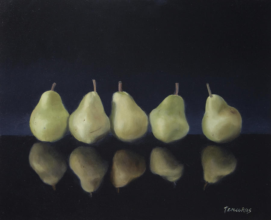 Pears in Black by Linda Tenukas