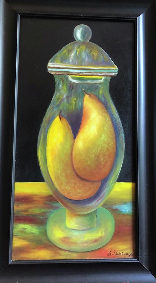 Pears in Ginger Jar.  SOLD by Susan Dehlinger