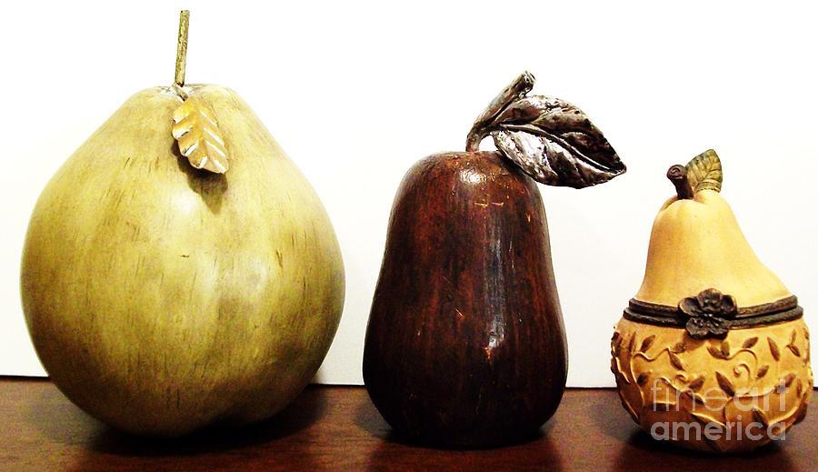 Photo Photograph - Pears by Marsha Heiken
