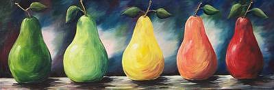 Pears Of Color - Two - Sold Painting by Torrie Smiley
