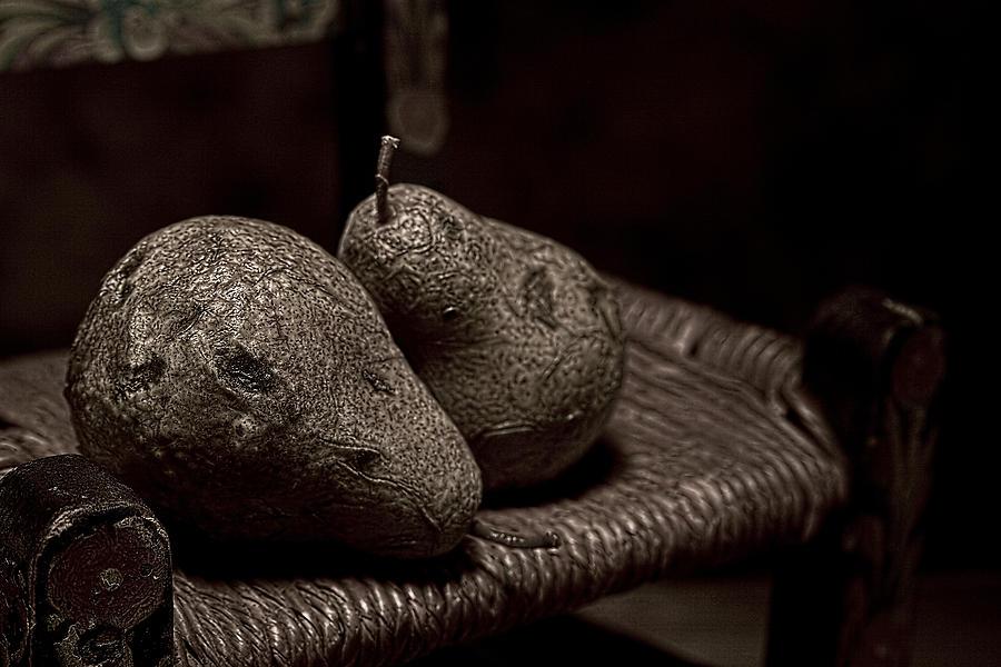 Pear Photograph - Pears On A Chair I by Tom Mc Nemar
