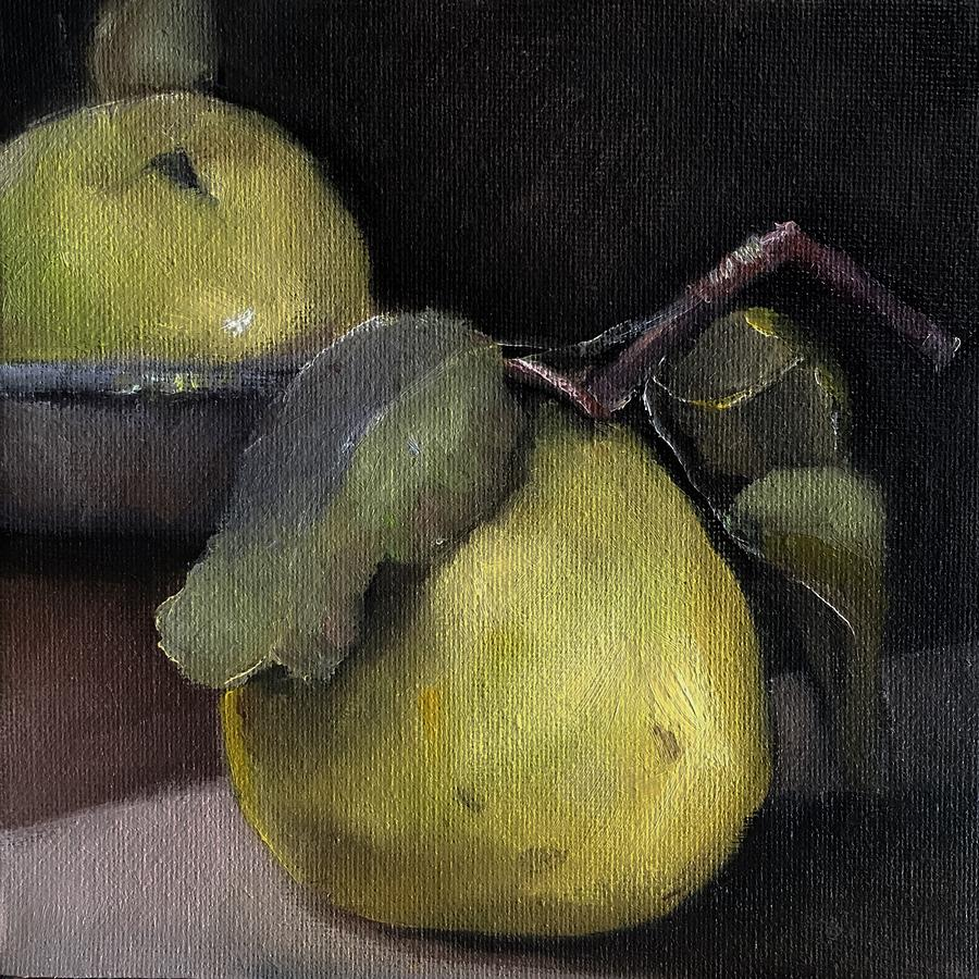 Fruit Painting - Pears Stilllife Painting by Michele Carter