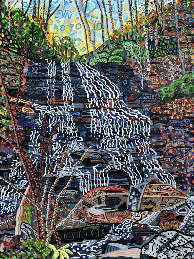 Pearsons Falls Painting by Micah Mullen