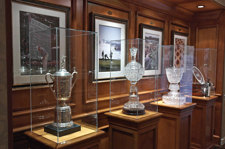 Golf Photograph   Pebble Beach Trophy Room By Michele Myers