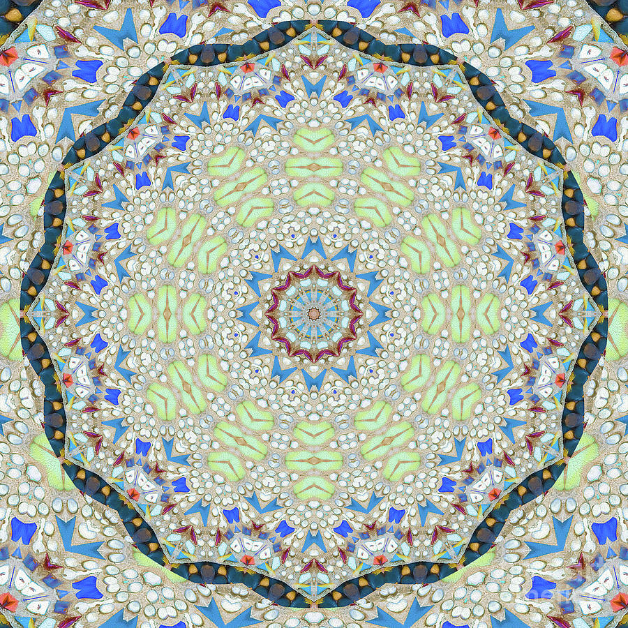 Pebbles And The Mandala Photograph