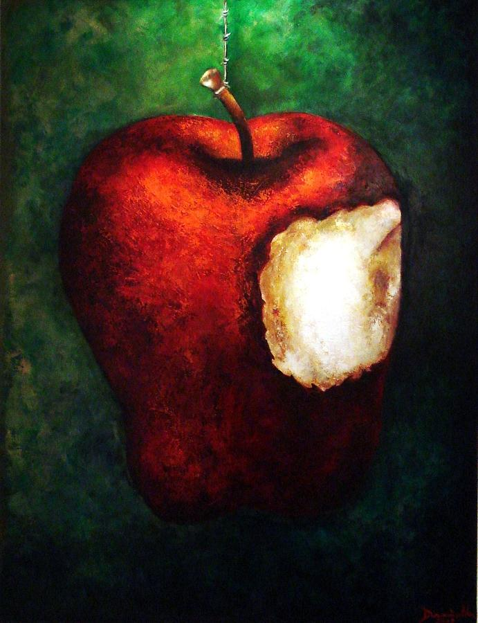 Red Painting - Pecado by Daniella Arteaga Vallarino Artist