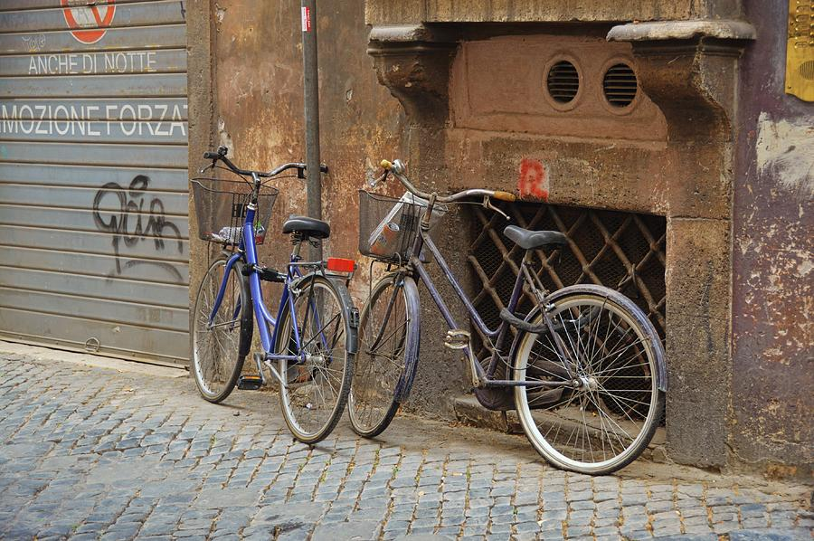Italy Photograph - Bicycling Thru Rome by JAMART Photography