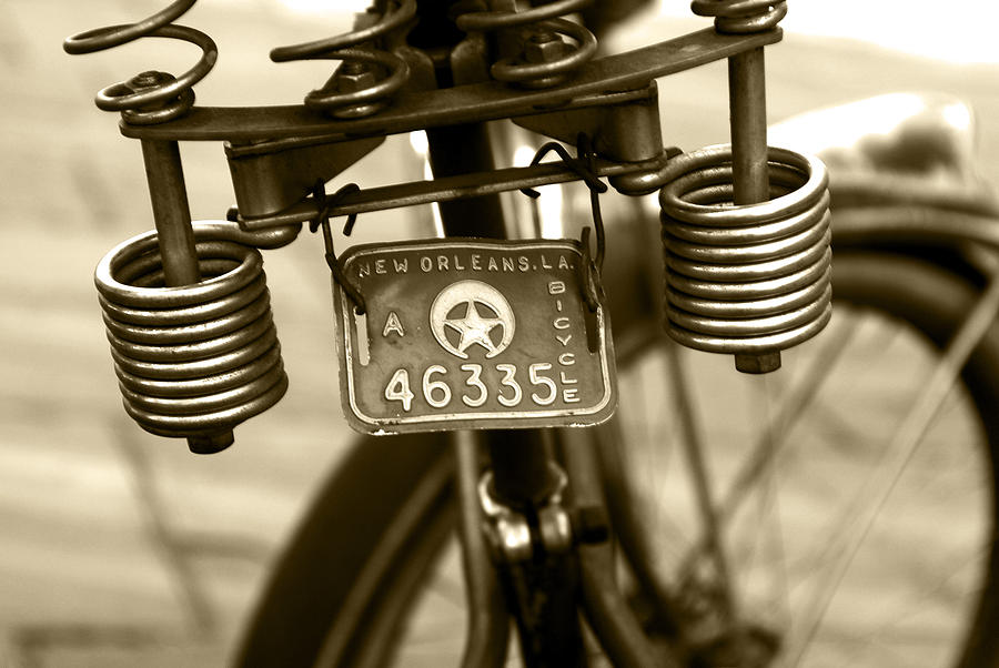 Bicycle Photograph - Pedaling New Orleans by Wayne Archer