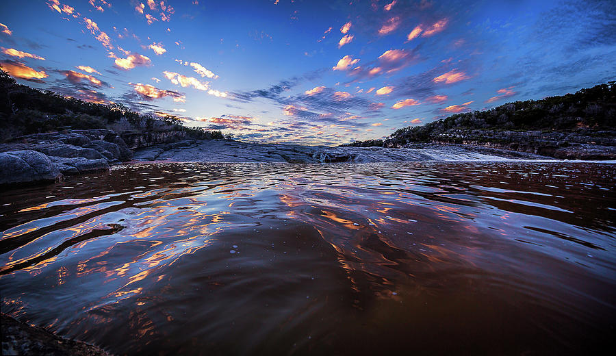 Peddernales Falls Sunset #1 by Micah Goff