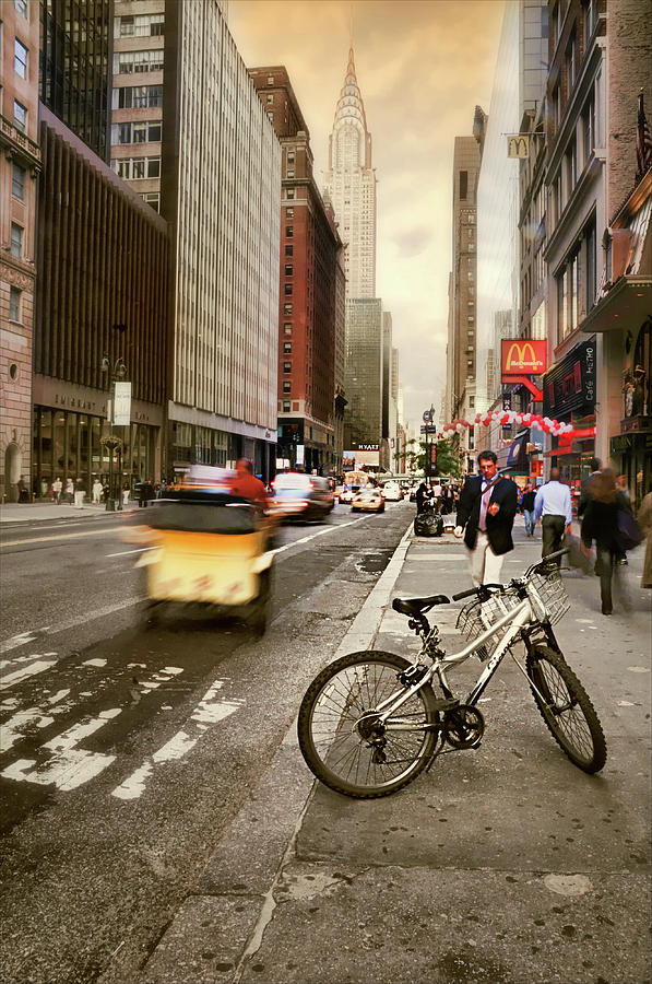Nyc Photograph - Peddle It Manhattan by Diana Angstadt
