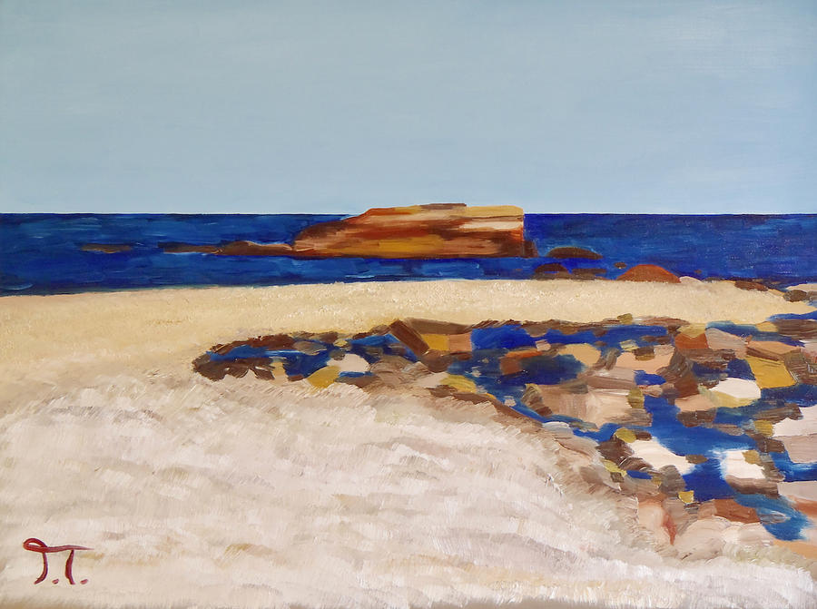 Pedersen Beach Lake Superior Painting by Troy Thomas
