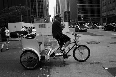 New York Photograph - Pedi Cab by Linda Kish