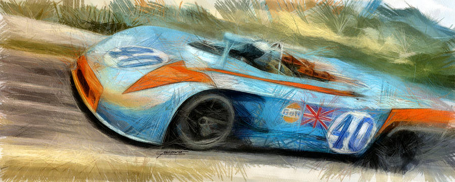 Pedro Rodriguez Painting By Tano V Dodici Artautomobile