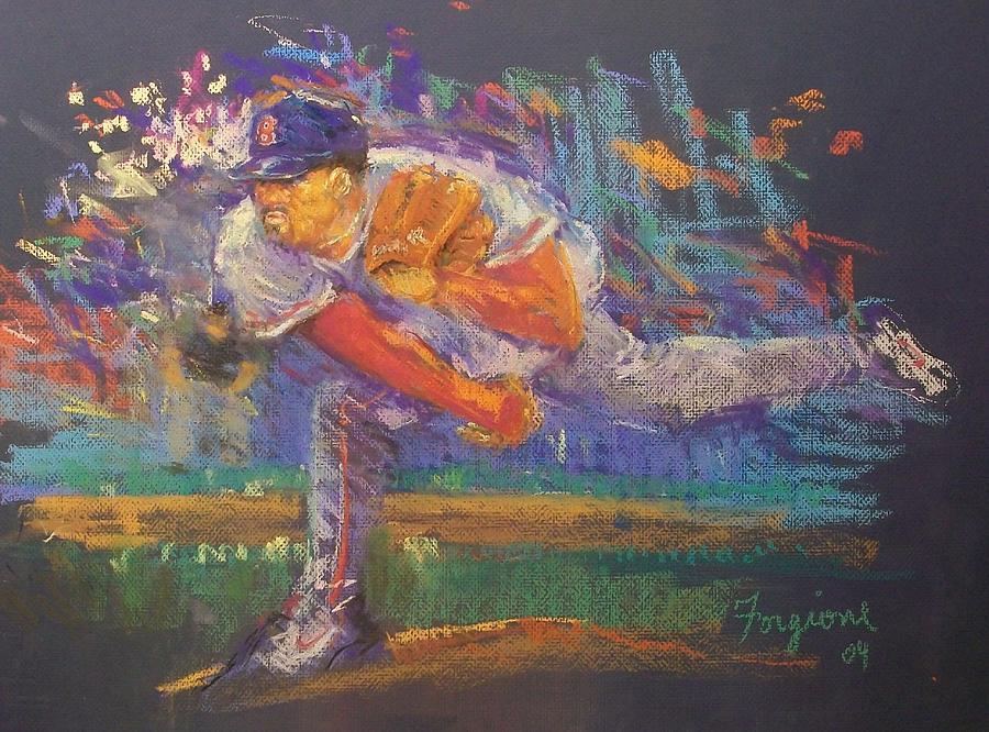 Baseball Pastel - Pedro by Tom Forgione