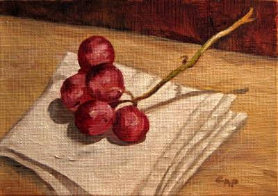 Fruit Painting - Peel Me A Grape by Cheryl Pass
