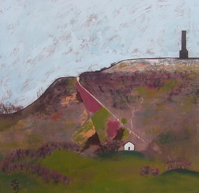 Landscapes Painting - Peel Tower by Joanne Claxton