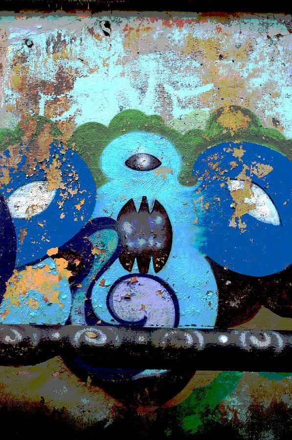 Graffiti Photograph - Peeling Graffiti by Cathy Mahnke
