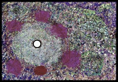 Abstract Painting - Peephole by Peter Schwartz