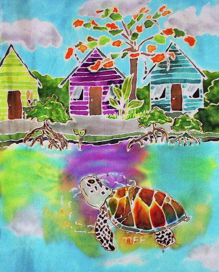 Green Turtle Painting - Peepin Tom by Tiff