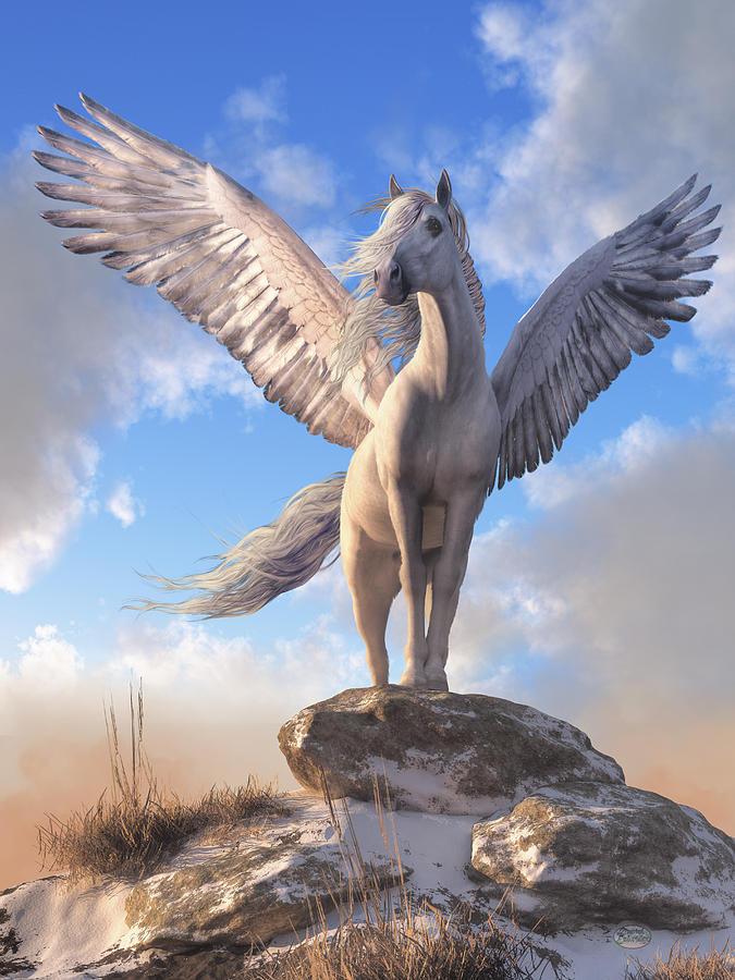 Pegasus Digital Art - Pegasus The Winged Horse by Daniel Eskridge
