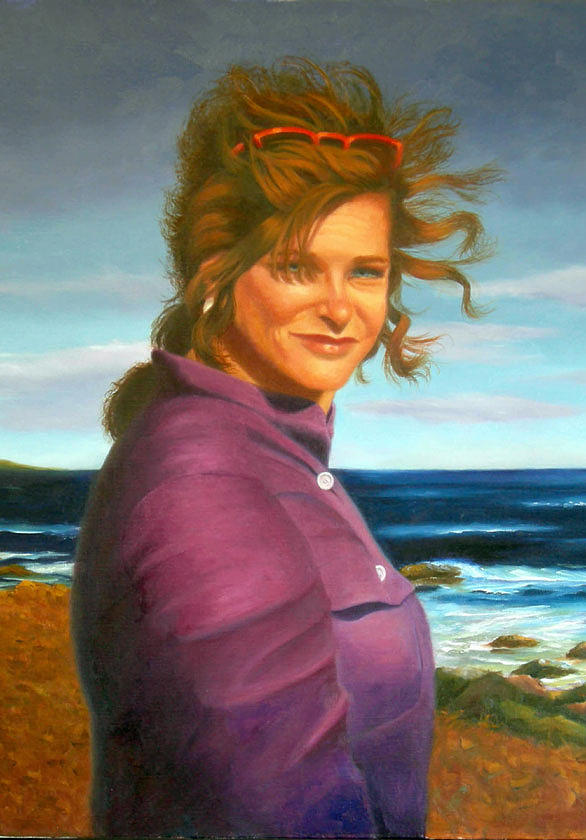 Portrait Painting - Peggy by Pat Aube Gray