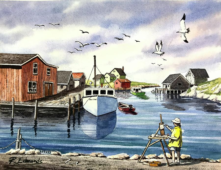 Peggy's Cove paintings available at Made in the Maritimes ... |Painting Artist Directory Cove