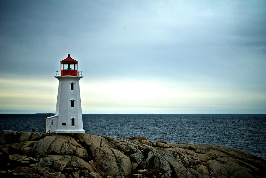 Nova Scotia Photograph - Peggys Cove Lighthouse - Photographers Collection by Andre Distel