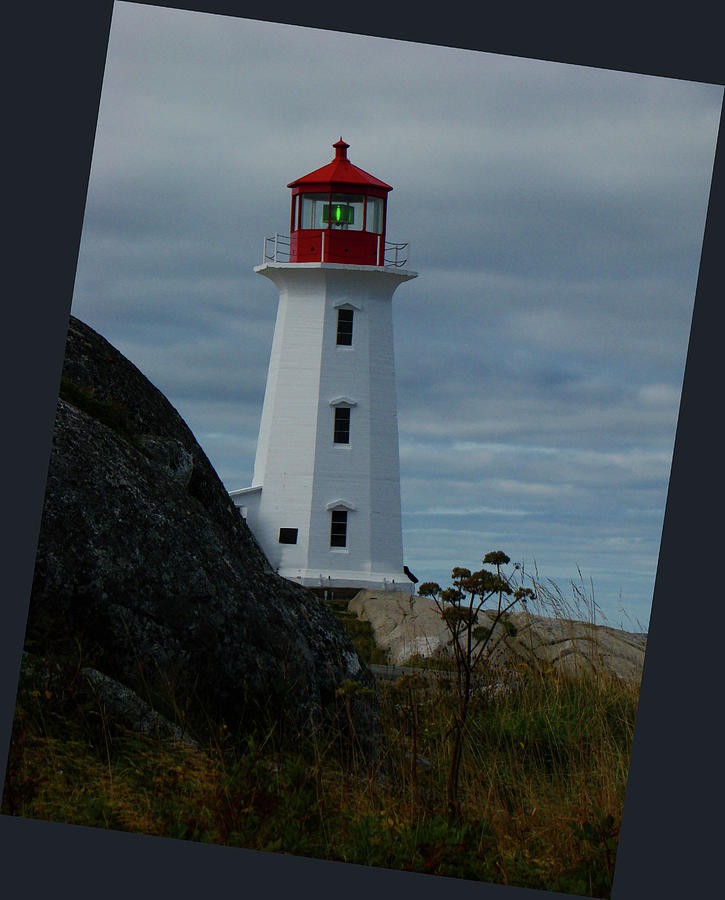 Okotoks Photograph - Peggys Cove Lighthouse by Al Bourassa