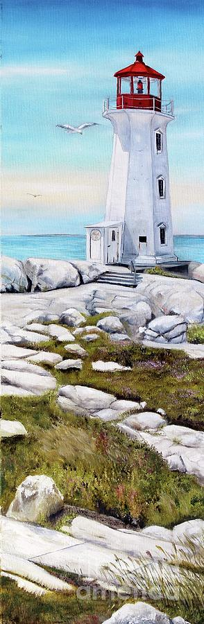 Peggy's Cove Lighthouse by Anna-maria Dickinson