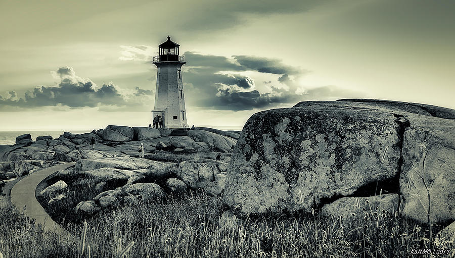 2016 Photograph - Peggys Cove Lighthouse by Ken Morris