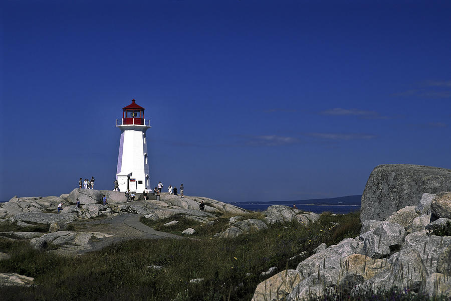 Beacon Photograph - Peggys Cove Lighthouse by Sally Weigand