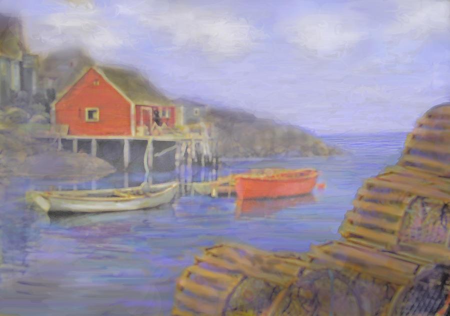 Nova Scotia Photograph - Peggys Cove Lobster Pots by Ian  MacDonald