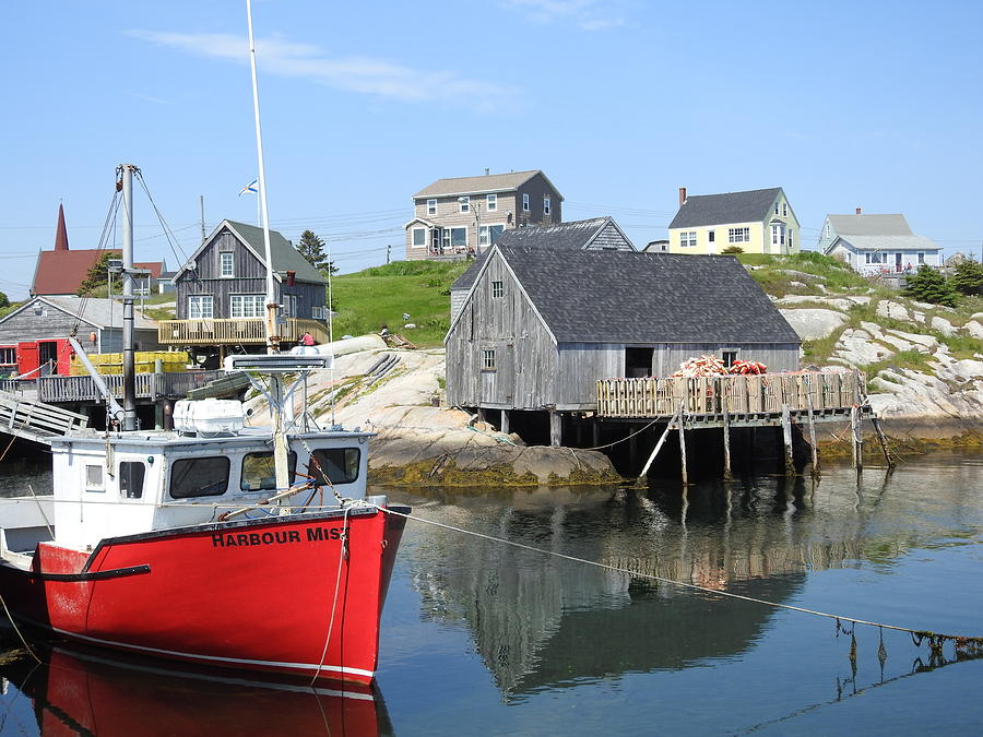 Peggy's Cove Photograph - Peggys Cove, Nova Scotia by Brian Chase