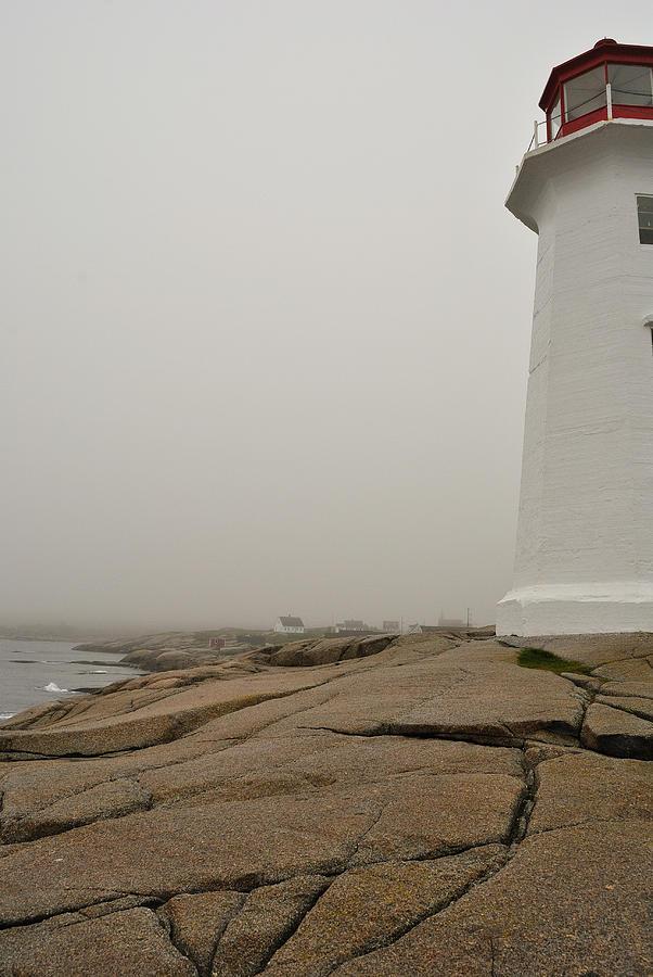Lighthouse Photograph - Peggys Lighthouse by Mark Highfield