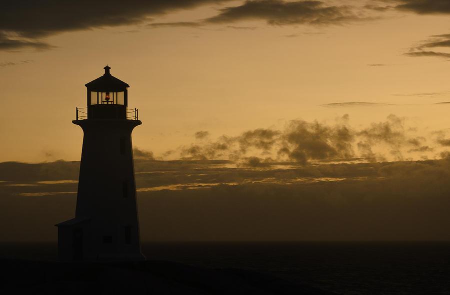 Lighthouse Photograph - Peggys Sunset by Richard Andrews