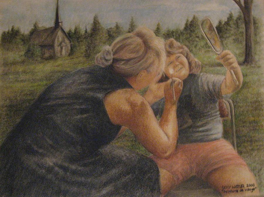 Visage Pastel - Peinture De Visage by Larry Whitler