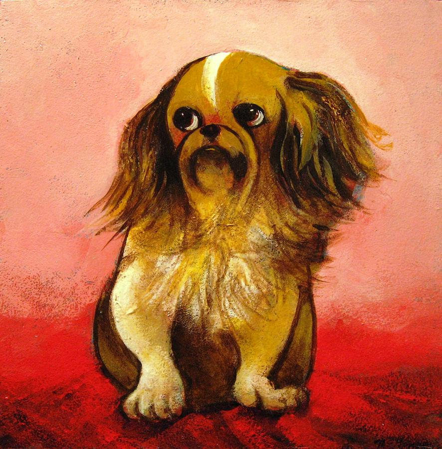 Dog Painting - Pekinese by Christine McGinnis