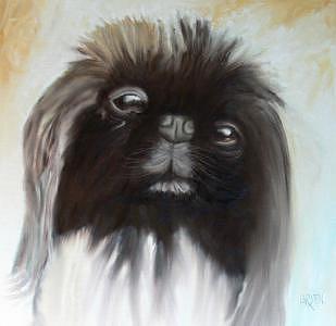 Pekingese Painting by Dick Larsen