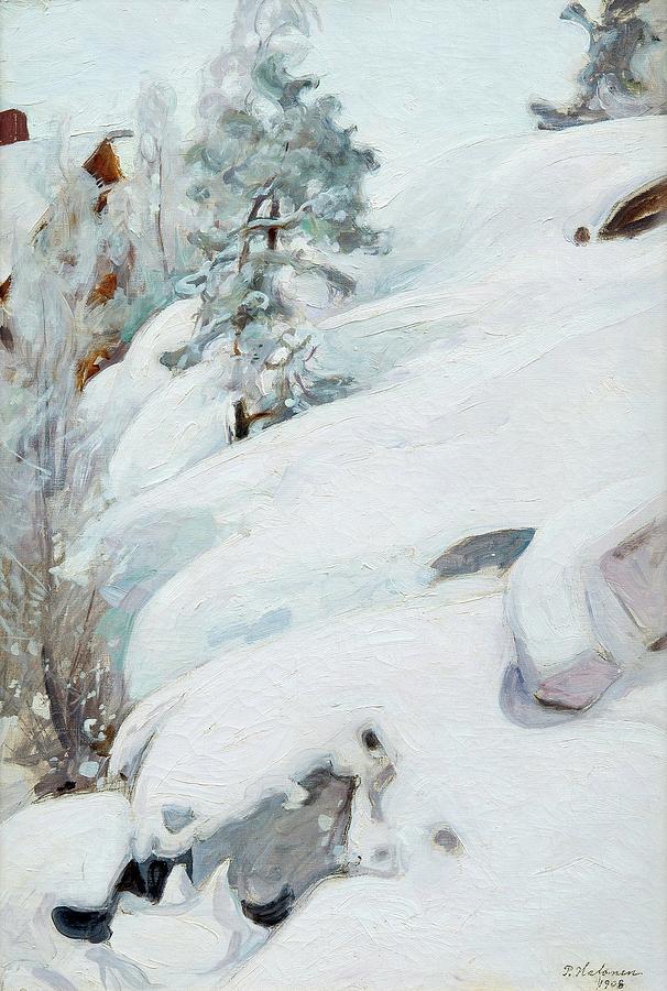 Winter Painting - Pekka Halonen, Winter Landscape by Pekka Halonen
