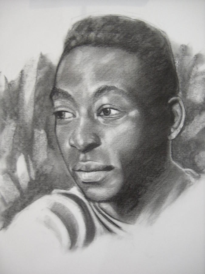 Portrait Drawing - Pele by Aizam Solihin