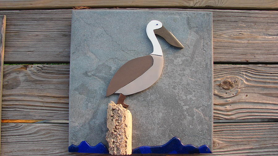 Pelican Mixed Media - Pelican Day by R Gentry