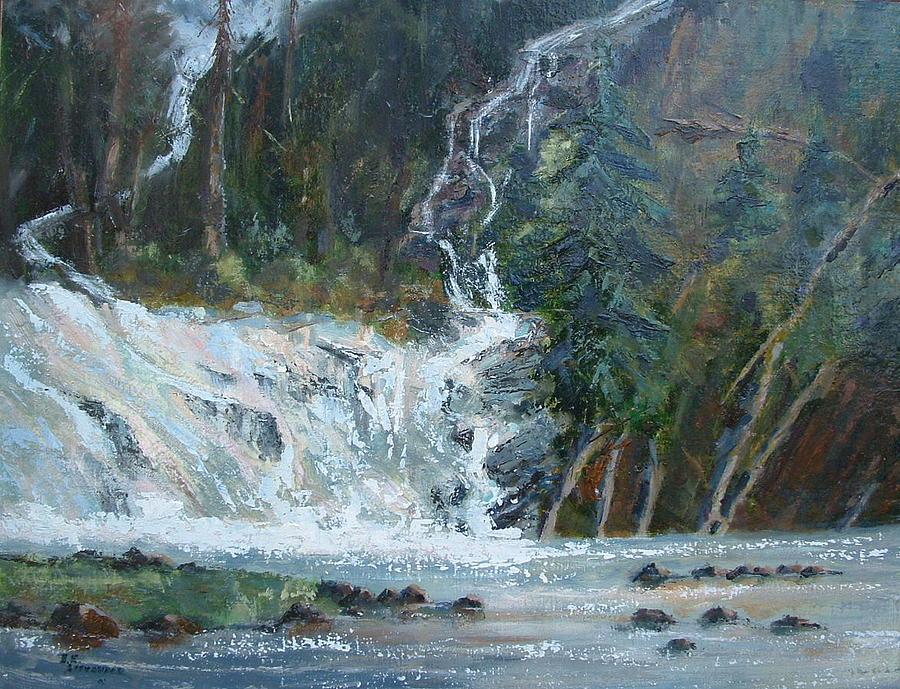 Landscape Painting - Pelican Falls by Bryan Alexander
