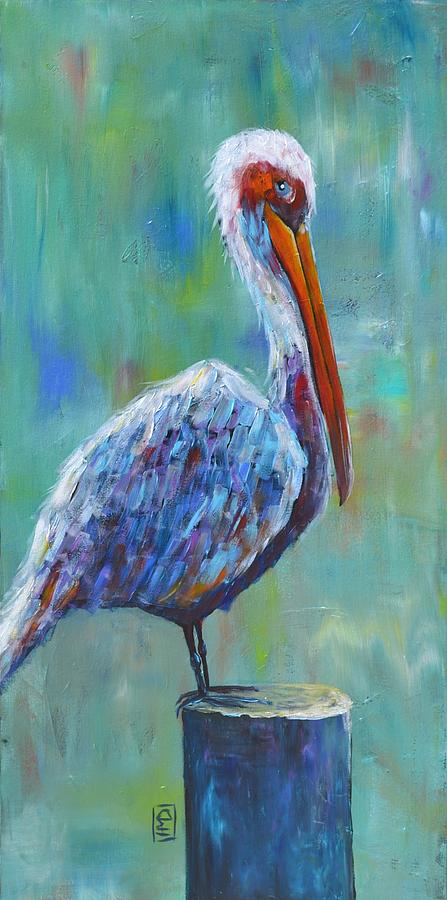 Pelican Painting - Pelican by Holly Donohoe