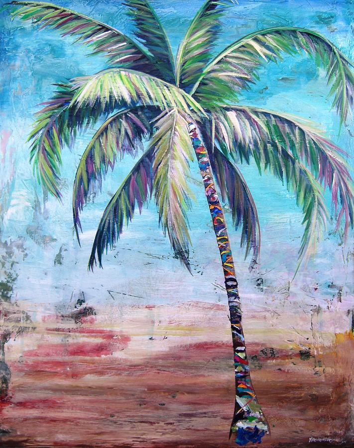 Blue Painting - Pelican Palm II by Kristen Abrahamson